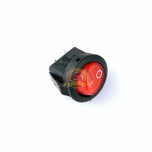 1pcs Dc 12v Car Dot Auto Boat Round Rocker Red Led Light Switch On Off