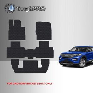 Toughpro Floor Mats 3rd Row Black For Ford Explorer 2nd Row Bucket 2020 2021