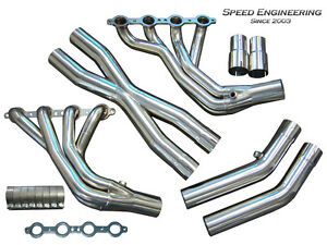 Ls1 Ls6 C5 Corvette Longtube Headers 1997 04 1 7 8 Race Version X pipe