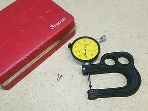 Starrett No 1015ma Metric Portable Thickness Gage No 25 881 01mm nice