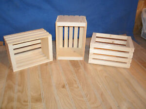 10 Small Unfinished Pine Crates Wooden Crate Wood Crate