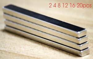 Strip Block Cuboid N52 100mm X 10mm X 5mm 100x10x5mm Neodymium Permanent Magnets