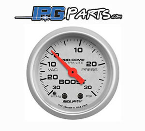Autometer Ultra Lite 0 30 Psi Mechanical Boost Gauge 52mm Part 4303