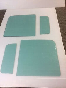 1953 1954 1955 Ford Pickup Truck Glass 4 Pc 2 Vent Glass 2 Door Glass Tinted