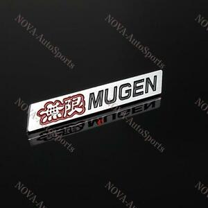 3d Car Trunk Spoiler 4 Emblem Badge Sticker Decal Mugen For Honda Civic Si Lip