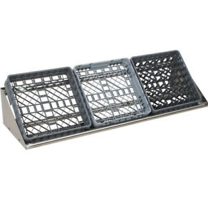New Regency 62 Wall Mount Stainless Steel Glass Cup Dish Rack Shelf Commercial