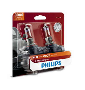 2x Germany Philips 9006 Upgrade 100 More Bright White Light Bulb Street Legal
