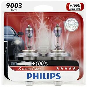 2 Philips 9003 H4 White Super Bright Upgrade Light Bulb Hologen Headlight 67 60w