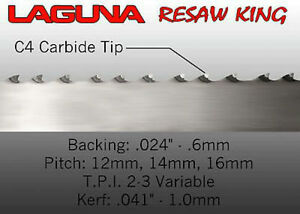 Laguna Tools 1 Resaw King Bandsaw Blade 153 New Universal Wood Saw Blade