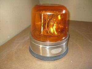 North American Signal Model 300 Amber Emergency Beacon Strobe Light 24v used
