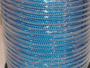 Double Braid Polyester Safety Winch Rigging Line 7 16x300 Feet Blue