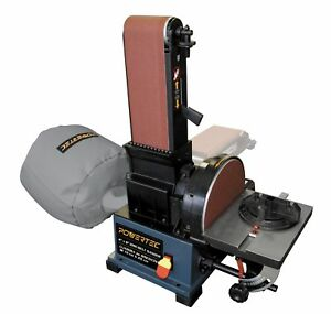 POWERTEC BD4800 Woodworking Belt Disc Sander w Built-In Dust Collection 4 x ...