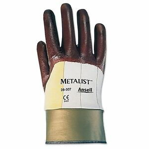 12 New Ansell 28 507 8 Metalist Foam Safety Glove Cut Resistant Nitrile Coated
