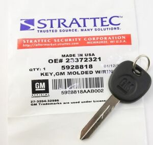 New Oem Ignition Bow Tie Key Uncut Blade Blank For Gm Chevy 23372321