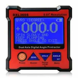 Floureon Axis Level Box Inclinometer Dual Axis Digital Angle Protractor With 5