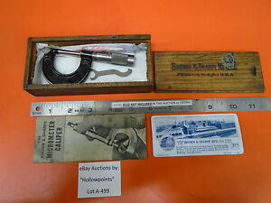 A499 Browne Sharpe 11a Outside Micrometer 0 1 0001 Vintage 4 Lathe Mill