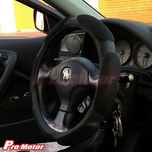 Vintage Steering Wheel Cover Protector Leather Hand Pad Buffer Cushion Slip On Z