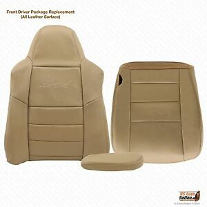 2005 Ford Excursion Limited Lean Back Bottom Armrest Leather Seat Cover Tan