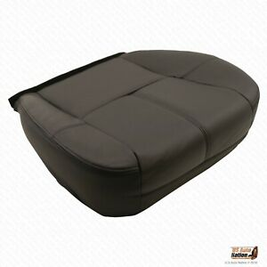 09 13 Avalanche Ltz Heated Driver Bottom Leather Replacement Seat Cover Black