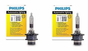 2x Authentic Philips D2r Hid Upgrade Xenon Bright White 200 More Light Bulb Oem