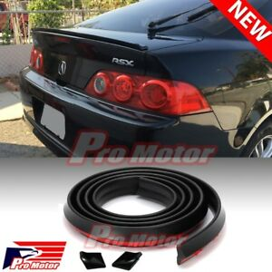 Blk Universal Spoiler Trunk Roof Sporty Wing Lip Chin Roll Side Molding Skirt