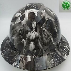 Full Brim Hard Hat Custom Hydro Dipped New Fantasy Girls Super Hot New