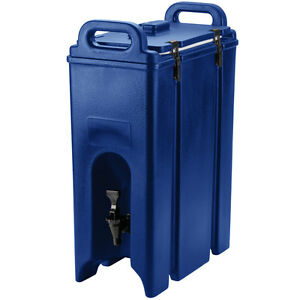 Cambro 4 75 Gallon Navy Blue Insulated Hot Cold Catering Beverage Dispenser