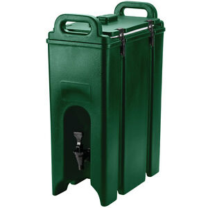 New 4 75 Gallon Green Insulated Hot Cold Coffee Tea Catering Beverage Dispenser