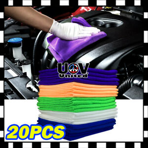 20pc Pack Microfiber Cleaning Cloth Towel No Scratch Rag Car Polishing Detailing
