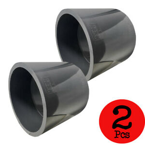 New Lot Of 2 Pcs Sch 80 Pvc 6 Inch Straight Coupling Socket Connect