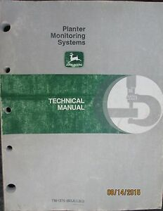 John Deere Planter Monitoring System Technical Manual Factory Original