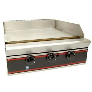 24 Gas Flat Top Griddle 2 Burners