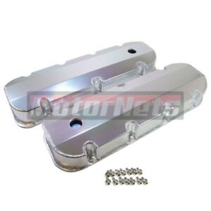 Bbc 396 454 496 Anodized Fabricated Aluminum Tall Valve Covers Short Bolt W hole