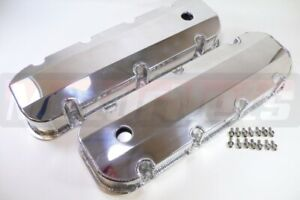 Bbc Big Block Chevy 427 454 496 Polished Fabricated Aluminum Tall Valve Covers