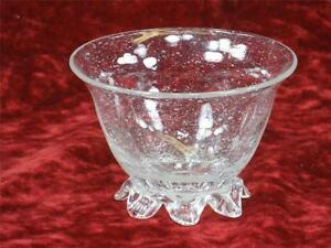 Venetian Clear Small Footed Glass Nut Bowl
