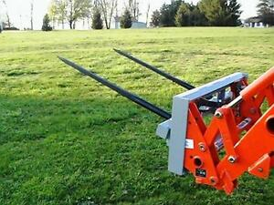Skid Steer Double Bale Spear Attachment 2 X 49 Prong Hay Bale Handler Cat m