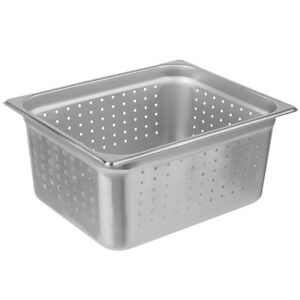 6 pack 1 2 Size 6 Deep Perforated Silver Nsf Stainless Steel Steam Table Pans