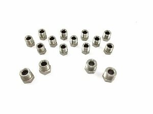 Stainless Brake Line Fitting Kit For 1 4 Tube Inverted Flare 16 Sae Nuts