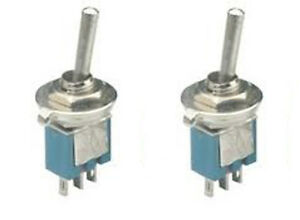 2 Pack Sub miniature Spdt On on Toggle Switches 2 Position On on Sw102