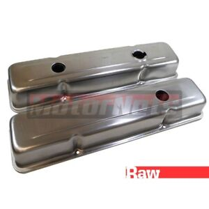 Raw Unplated Steel Oem Valve Covers Small Block Chevy Short Stock Sbc 305 350
