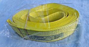 Mazzella Lifting Polyester Web Sling Endless Yellow 4 In Wide X 12 Ft Long