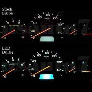 New Dash Instrument Cluster Gauge White Smd Led Light Kit Fit 98 02 Honda Accord