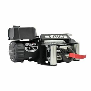 Westin Automotive 6 6 Hp 12v 9500 Lb Steel Rope Off road 9 5 Winch 47 2100