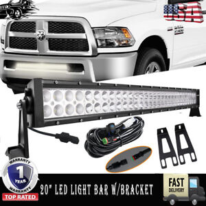 For Dodge Ram 2500 3500 20 22 Led Light Bar wiring bumper Mounting Bracket