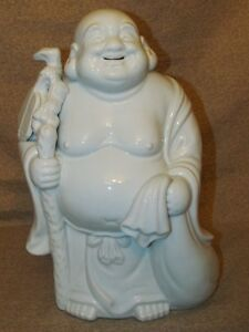Large Old Or Antique Japanese Kutani Porcelain Figure Of Hotai