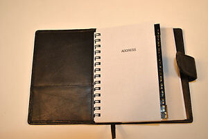 Black Leather Covered Day Planner