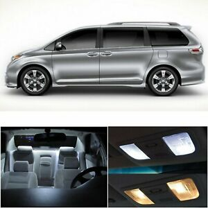 15 X Xenon White Led Interior Lights Package Deal For Toyota Sienna 2011 2017