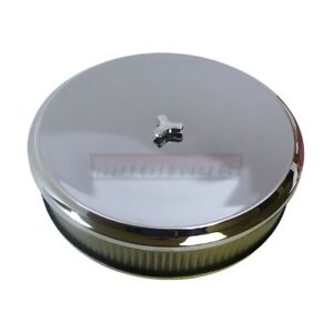 14 Round Dish Chrome Air Cleaner Recessed Drop Chevy Ford Mopar Hot Street Rod