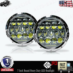 7 Inch Round Heavy Duty Hi lo Projector Headlight Led Technology Better Than Hid