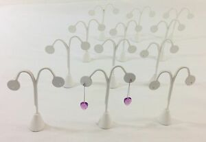 12pc White Leatherette Tree Shape Earring Stand Jewelry Showcase Display 5 5 h